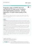 Prognostic values of EORTC QLQ-C30 and QLQ-HCC18 index-scores in patients with hepatocellular carcinoma – clinical application of health-related quality-of-life data