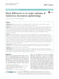 Racial differences in six major subtypes of melanoma: Descriptive epidemiology