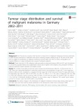 Tumour stage distribution and survival of malignant melanoma in Germany 2002–2011