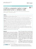 L1CAM as a prognostic marker in stage I endometrial cancer: A validation study