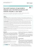 Successful treatment of gemcitabineinduced acute interstitial pneumonia with imatinib mesylate: A case report