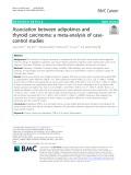 Association between adipokines and thyroid carcinoma: A meta-analysis of casecontrol studies