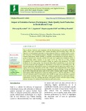 Impact of scientists-farmers participatory mode quality seed production in horticultural crops