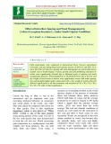 Effect of intra row spacing and weed management in cotton (Gossypium hirsutum L.) under south gujarat conditions