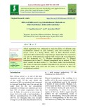 Effect of different crop establishment methods on yield attributes, yield and economics