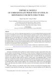 Empirical models of corrosion rate prediction of steel in reinforced concrete structures