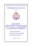 Tóm tắt luận án Tiến sĩ Kỹ thuật: Nghiên cứu năng lực của sĩ quan Hàng hải Việt Nam trong xử lý tình huống có nguy cơ đâm va tàu trên biển trong ca trực độc lập