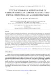 Effect of hydraulic retention time on nitrogen removal in domestic wastewater by partial nitritation and anammox processes