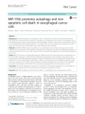 MiR-193b promotes autophagy and nonapoptotic cell death in oesophageal cancer cells