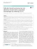 Follicular thyroid carcinoma but not adenoma recruits tumor-associated macrophages by releasing CCL15