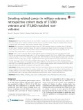 Smoking-related cancer in military veterans: retrospective cohort study of 57,000 veterans and 173,000 matched nonveterans