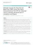 Attitudes towards the Faecal Occult Blood Test (FOBT) versus the Faecal Immunochemical Test (FIT) for colorectal cancer screening: Perceived ease of completion and disgust