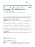 Scenario drafting for early technology assessment of next generation sequencing in clinical oncology