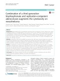 Combination of a third generation bisphosphonate and replication-competent adenoviruses augments the cytotoxicity on mesothelioma