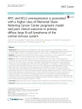 MYC and BCL2 overexpression is associated with a higher class of Memorial SloanKettering Cancer Center prognostic model and poor clinical outcome in primary diffuse large B-cell lymphoma of the central nervous system