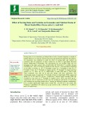 Effect of sowing dates and varieties on economics and nutrient status of direct seeded rice (Oryza sativa L.) and soil