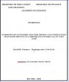 Tóm tắt luận án Tiến sĩ Kinh tế: Giải pháp chống thất thu thuế thu nhập doanh nghiệp trên địa bàn thành phố Hải Phòng