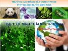 Bài giảng Hệ sinh thái môi trường – Lê Thị Thái Hà