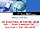 Bài giảng Học thuyết giá trị - Trần Thị Phương