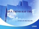 Bài giảng Quá trình hấp thụ - Lê Thị Thái Hà
