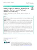 Diaper-embedded urine test device for the screening of urinary tract infections in children: A cohort study