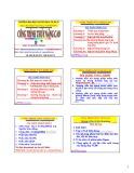 Bài giảng Công trình thủy nâng cao: Chương 3 - PGS.TS. Nguyễn Thống