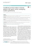 Conditional survival analysis in Korean patients with gastric cancer undergoing curative gastrectomy