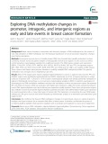 Exploring DNA methylation changes in promoter, intragenic, and intergenic regions as early and late events in breast cancer formation