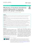 Effectiveness of intravitreal chemotherapyassisted endoresection in monocular patients with group D retinoblastoma