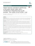 Helical intensity-modulated radiotherapy of the pelvic lymph nodes with a simultaneous integrated boost to the prostate - first results of the PLATIN 1 trial