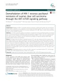 Demethylation of HIN-1 reverses paclitaxelresistance of ovarian clear cell carcinoma through the AKT-mTOR signaling pathway
