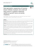 Next-generation sequencing of tyrosine kinase inhibitor-resistant non-small-cell lung cancers in patients harboring epidermal growth factor-activating mutations