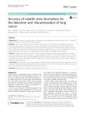 Accuracy of volatile urine biomarkers for the detection and characterization of lung cancer