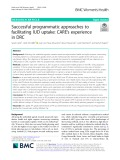 Successful programmatic approaches to facilitating IUD uptake: Care's experience in DRC