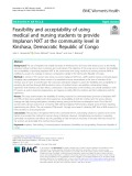 Feasibility and acceptability of using medical and nursing students to provide Implanon NXT at the community level in Kinshasa, Democratic Republic of Congo