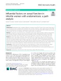 Influential factors on sexual function in infertile women with endometriosis: A path analysis