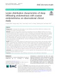 Lesion distribution characteristics of deep infiltrating endometriosis with ovarian endometrioma: An observational clinical study