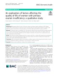 An exploration of factors affecting the quality of life of women with primary ovarian insufficiency: A qualitative study