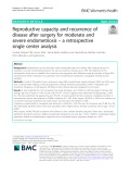 Reproductive capacity and recurrence of disease after surgery for moderate and severe endometriosis – a retrospective single center analysis