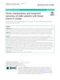 Tumor characteristics and treatment outcomes of older patients with breast cancer in Jordan