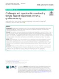 Challenges and opportunities confronting female-headed households in Iran: A qualitative study