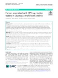 Factors associated with HPV vaccination uptake in Uganda: A multi-level analysis