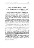 Thẩm Thận hầu Hồ Hữu Thẩm và họ hồ (nhánh 4) làng nguyệt biều và họ Hồ (nhánh 4) làng Nguyệt Biều
