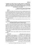 Nghiên cứu khả năng loại bỏ Amoni và Phosphat trong nước thải chăn nuôi heo sau xử lý kị khí bằng quá trình tăng cường dính bám của vi tảo Chlorella Vulgaris