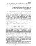 Đánh giá hệ thống xử lý nước thải và mùi từ quy trình sản xuất cá của công ty TNHH sản xuất – thương mại – dịch vụ Thuận An