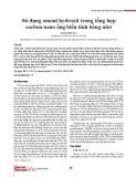 Sử dụng amoni hydroxit trong tổng hợp cacbon nano ống biến tính bằng nitơ
