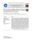 Nghiên cứu sự thay đổi sử dụng đất, nguyên nhân và tác động bằng phương pháp viễn thám, GIS và Delphi tại khu vực ven biển tỉnh Cà Mau trong 30 năm