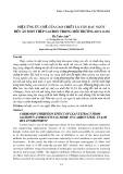 Hiệu ứng ức chế của cao chiết lá cây rau ngót đến ăn mòn thép cacbon trong môi trường HCL 0.1M