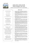 Tạp chí Khoa học Công nghệ Nông nghiệp Việt Nam: Số 7/2019