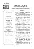 Tạp chí Khoa học Công nghệ Nông nghiệp Việt Nam: Số 5/2019